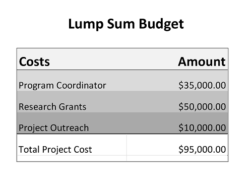 Lump sum budgets ors preparing a proposal maxwellsz